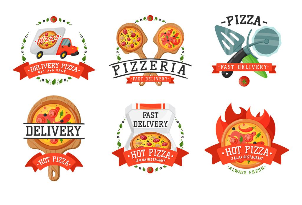 """【本作品下载内容为:""""创意披萨快餐标签标志设计矢量模板3EPS+1AI"""",其他内容仅为参考,如需印刷成实物请先认真校稿,避免造成不必要的经济损失。】 【声明】未经权利人许可,任何人不得随意使用本网站的原创作品(含预览图),否则将按照我国著作权法的相关规定被要求承担最高达50万元人民币的赔偿责任。"""
