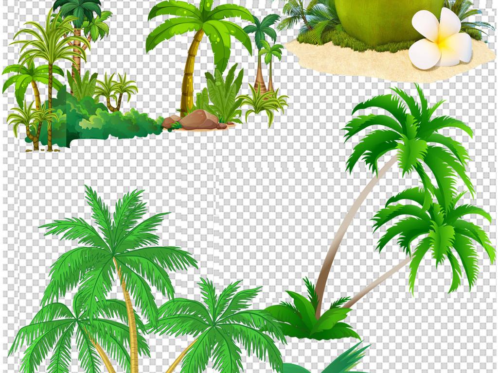 png)                                  海南椰树椰树矢量