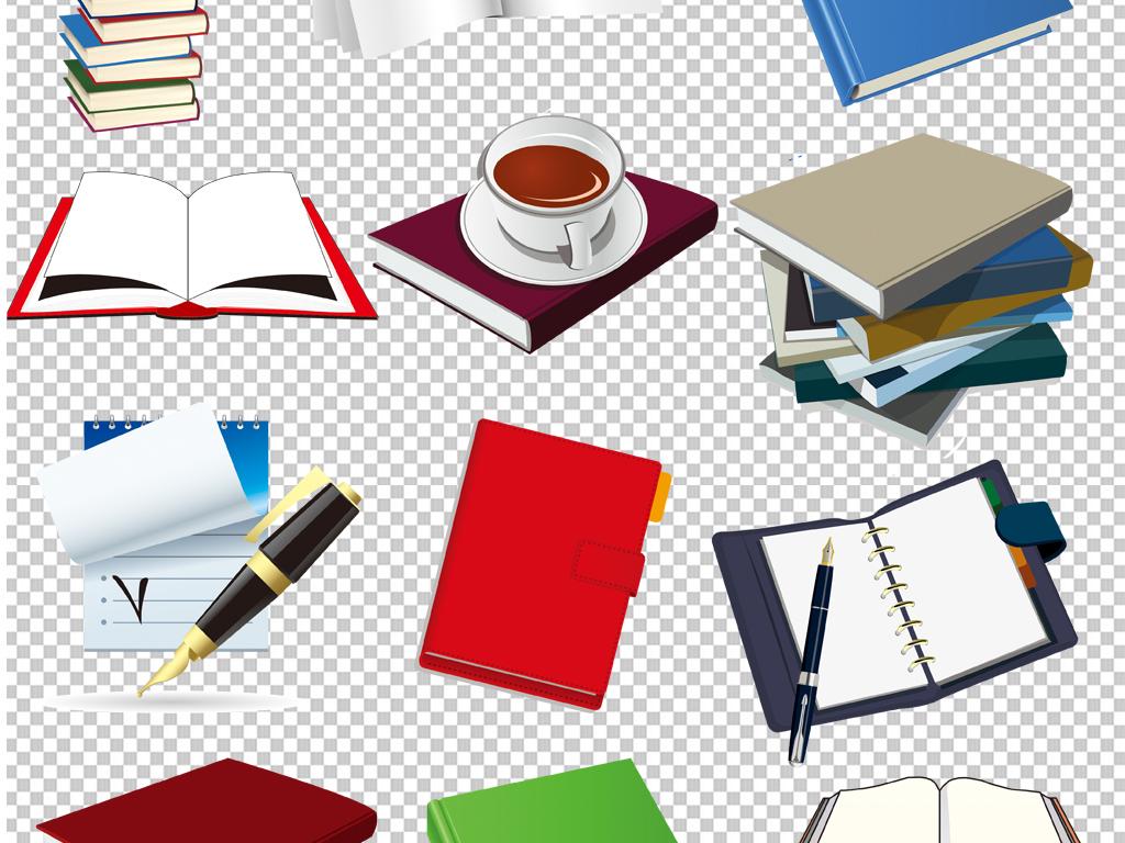 手绘矢量图免抠图海报展板高清高清晰素材免抠素材书本素材图书封皮