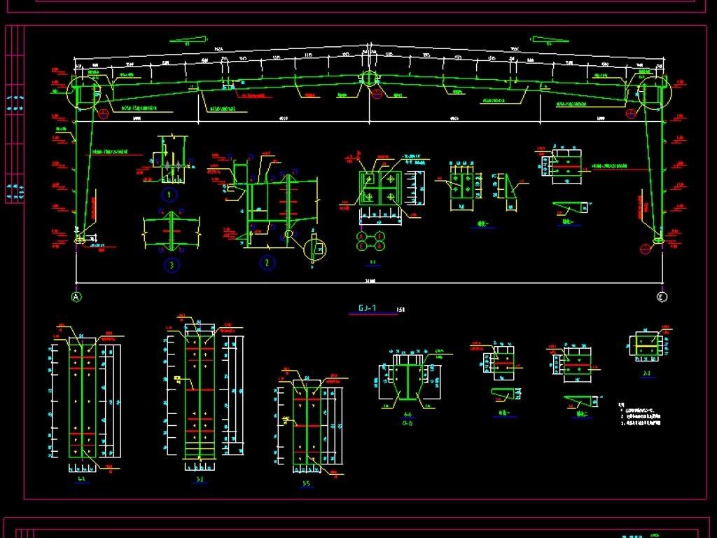我图网提供独家原创汽车4S店CAD钢结构图正版素材下载, 此素材为原创版权图片,图片,作品体积为,是设计师QQ0810B2031F82A在2017-07-26 15:07:41上传, 素材尺寸/像素为-高清品质图片-分辨率为, 颜色模式为,所属CAD图纸分类,此原创格式素材图片已被下载1次,被收藏77次,作品模板源文件下载后可在本地用软件 AutoCAD 2006(.