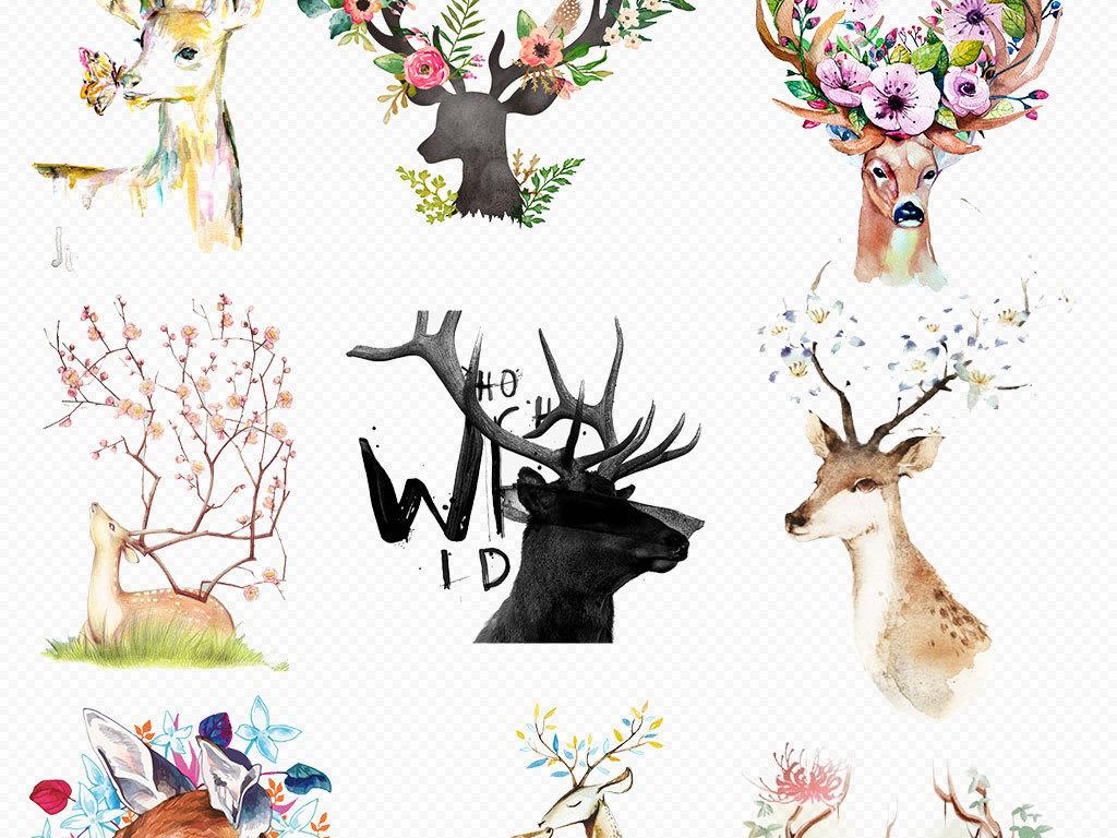 手绘卡通小鹿驯鹿鹿图片卡通鹿圣诞鹿鹿头卡通小鹿卡通驯鹿小鹿卡通