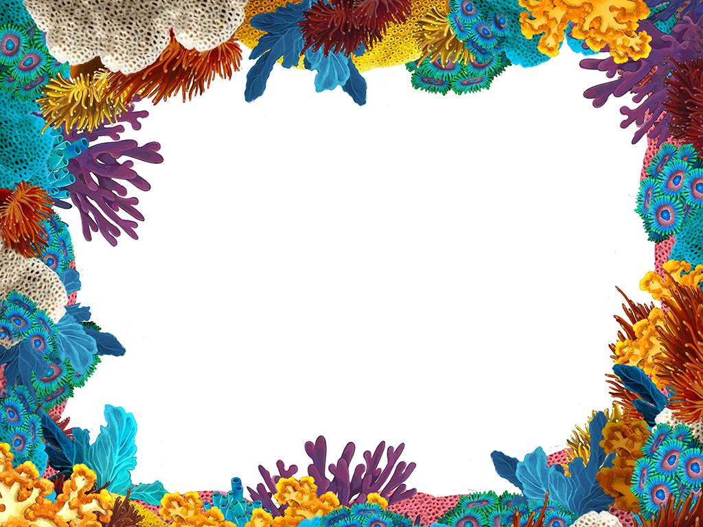 设计元素 背景素材 其他 > 海底世界珊瑚水草海洋生物高清图图片