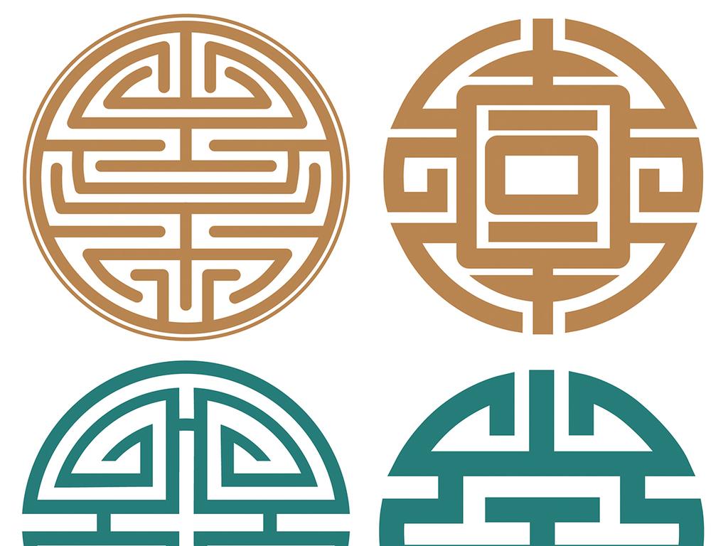 设计元素 其他 其他 > 中式圆形图案底纹矢量ai文件  版权图片 设计图片