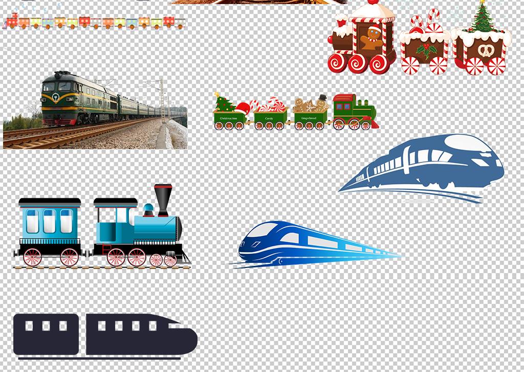 休闲地铁轻轨轨道火车剪影高铁剪影火车标志剪影小火车火车简笔画-