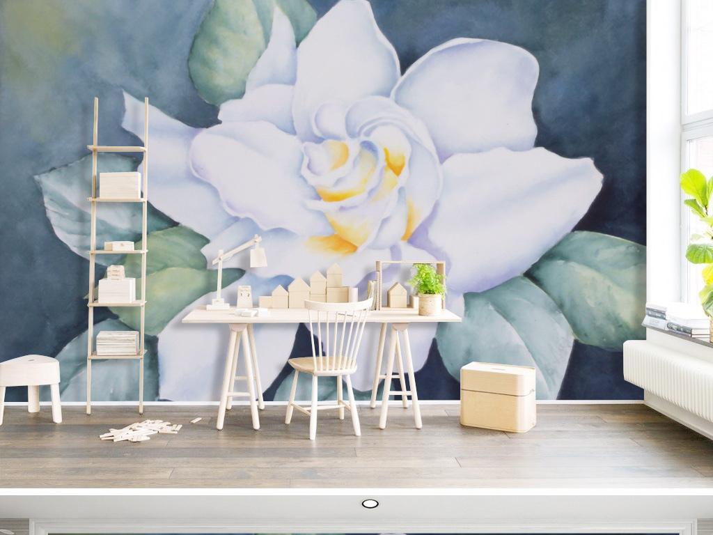 背景墙|装饰画 电视背景墙 手绘电视背景墙 > 北欧油画花卉清新背景墙