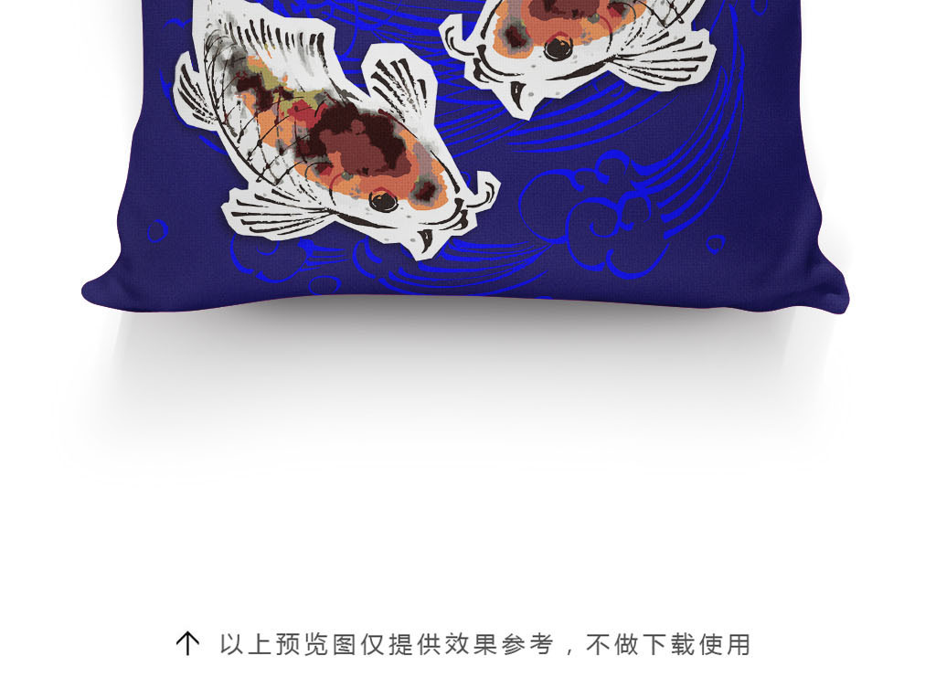 手绘金鱼抱枕图案图片下载ai素材-卡通图案-我图网