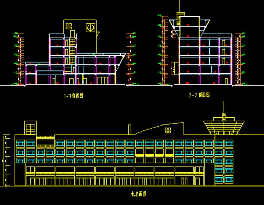 某汽车客运站CAD建筑施工图平面设计图下载 图片1.30MB CAD图纸