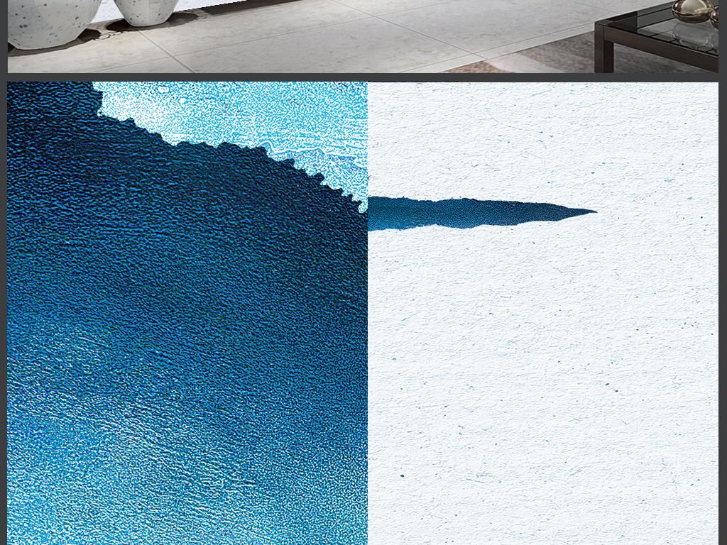 水墨纹理唯美意境山水背景墙