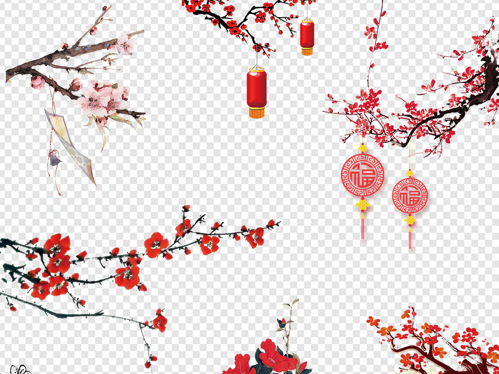 中国风梅花                                  手绘梅花