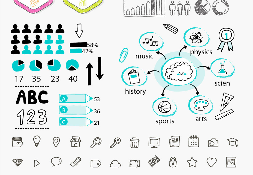 手绘数据信息图