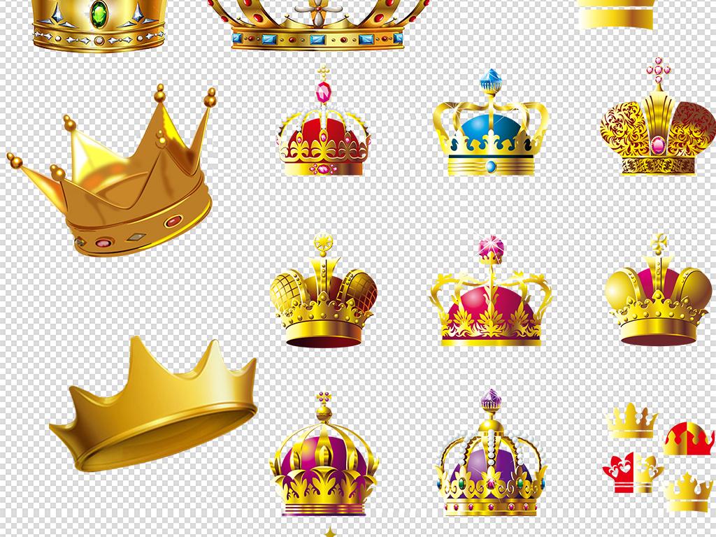 金色皇冠卡通皇冠png素材