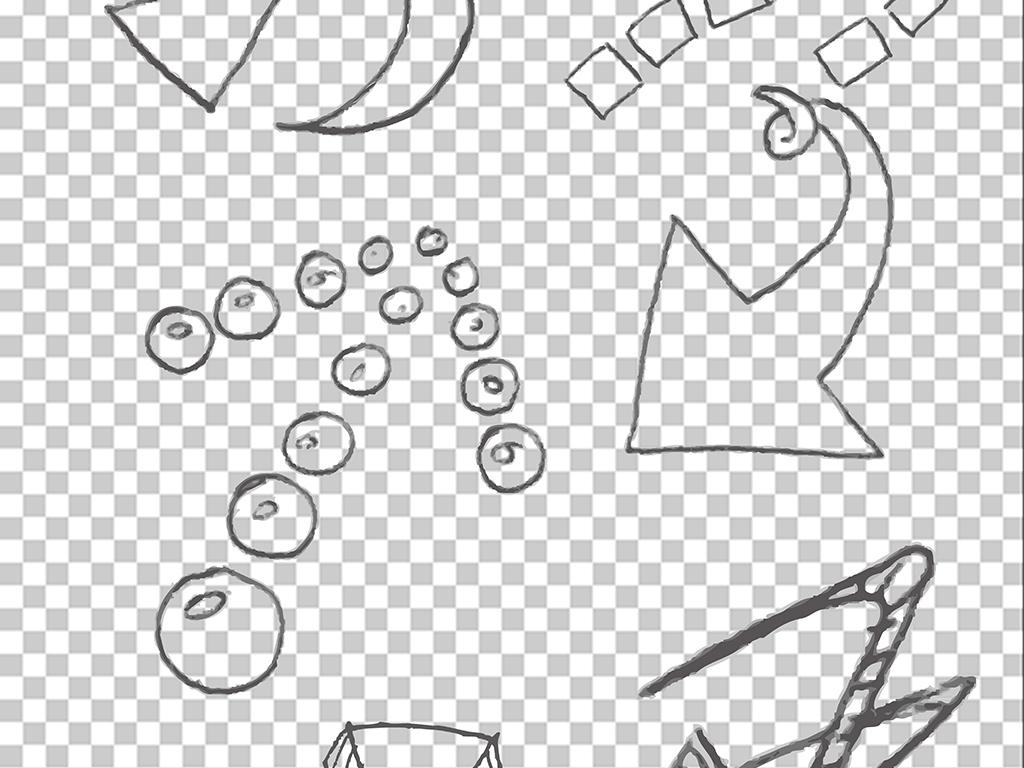 多款手绘风格箭头ppt设计素材