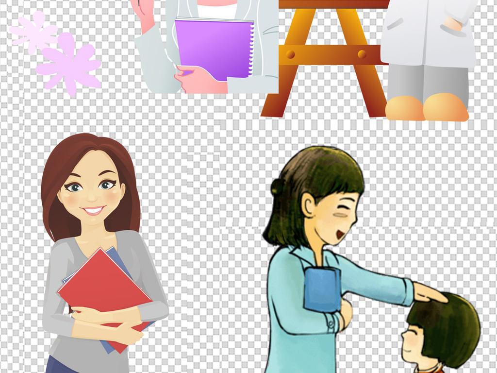 设计元素 人物形象 动漫人物 > 卡通老师职业人物图片海报素材  卡通