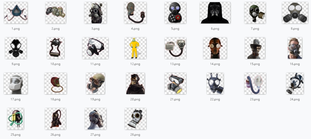 防毒面具png海报素材