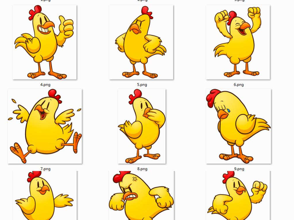 卡通鸡                                  动物炸鸡