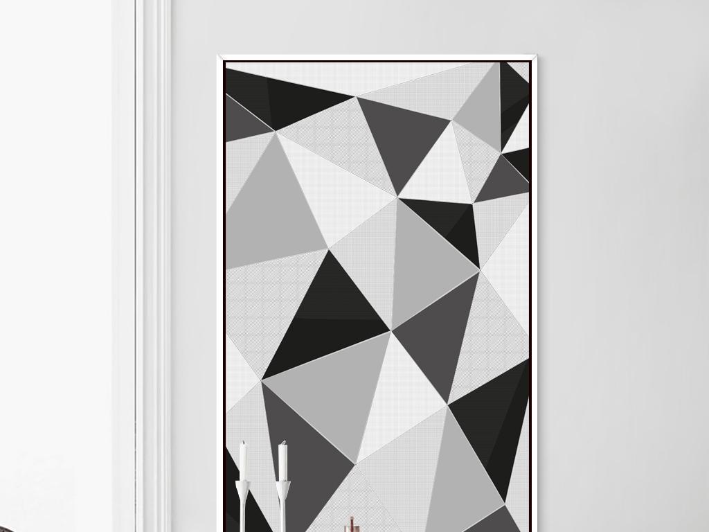 现代简约几何图形装饰画抽象图形装饰画