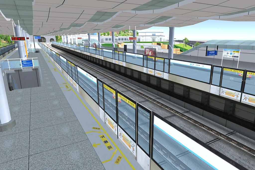 南京地铁不堪场面_南京地铁3dmax模型下载次时代模型游戏漫游场景专用