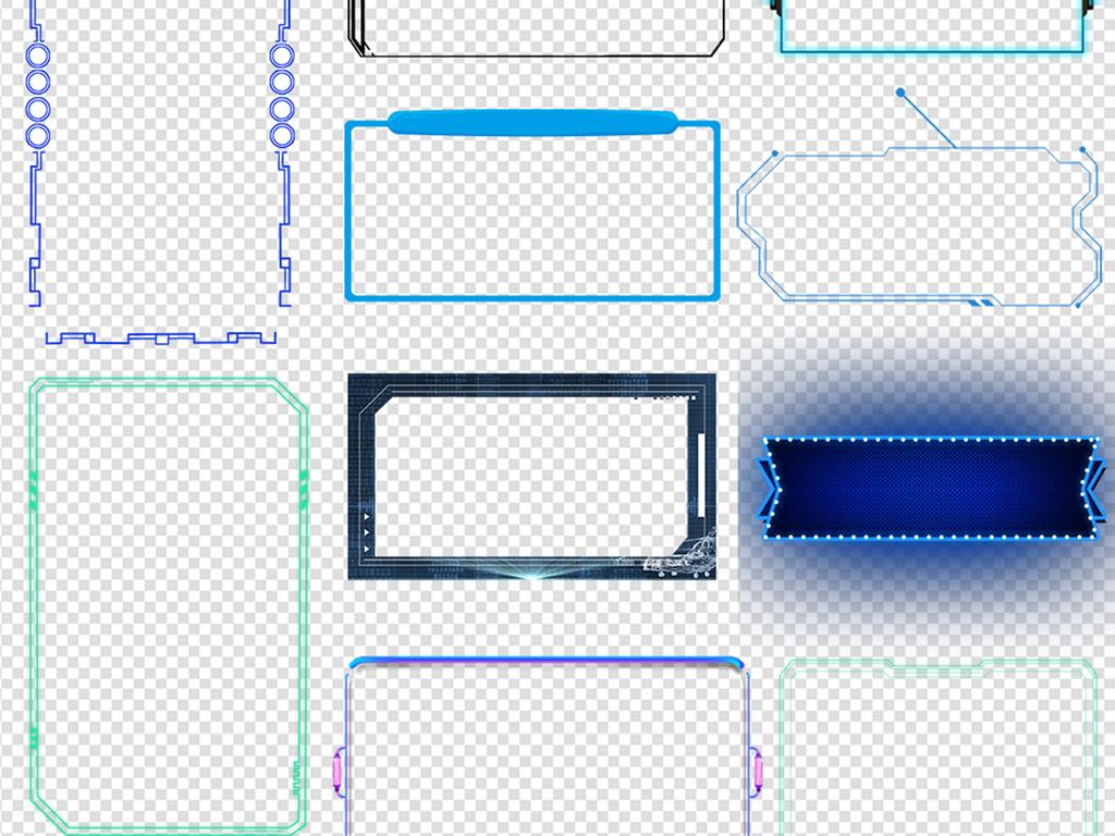 科技边框科技背景素材图片