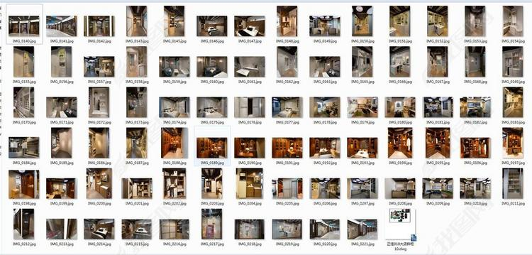 广州索菲亚展厅布局方案图纸实景照片CAD