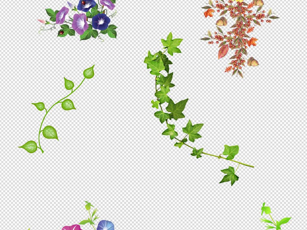 水彩花卉花边花环花卉花朵花边素材藤蔓素材花朵花朵素材图片素材边角