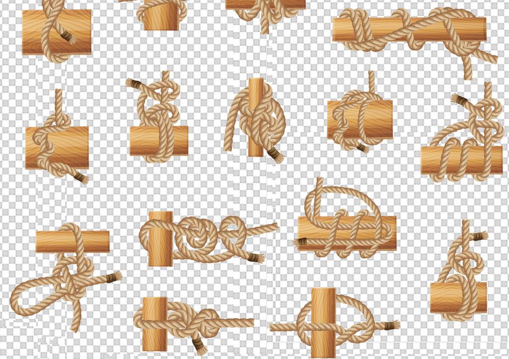 卡通手绘树木树桩木桩png素材