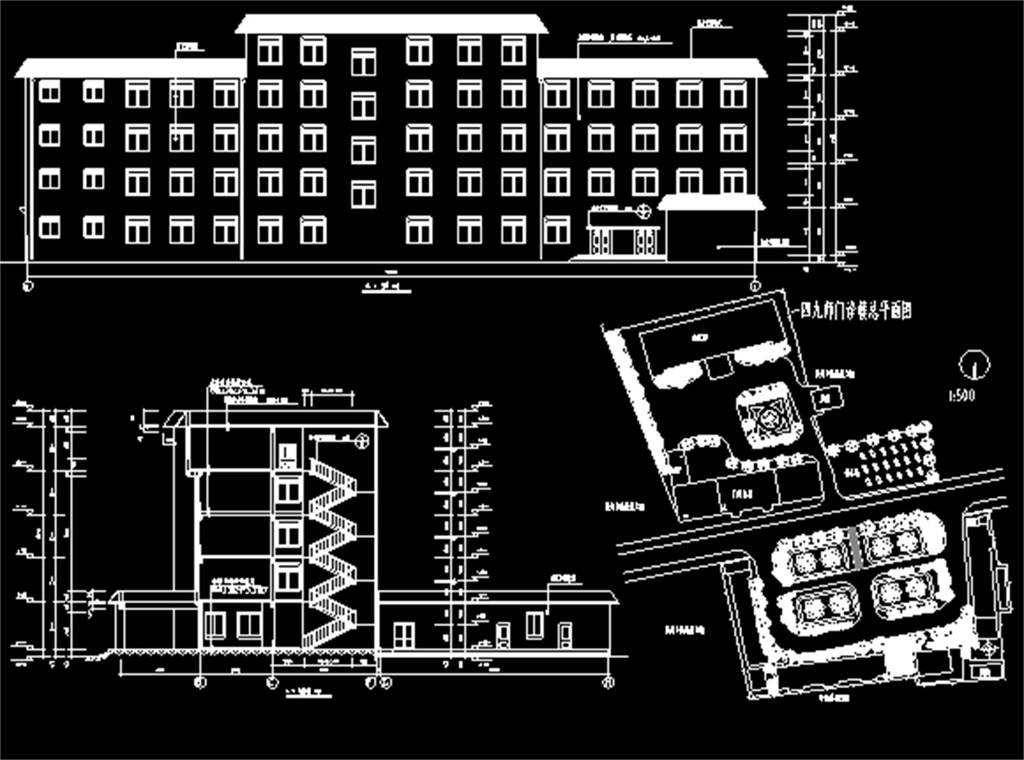 某医院门诊楼cad建筑施工图