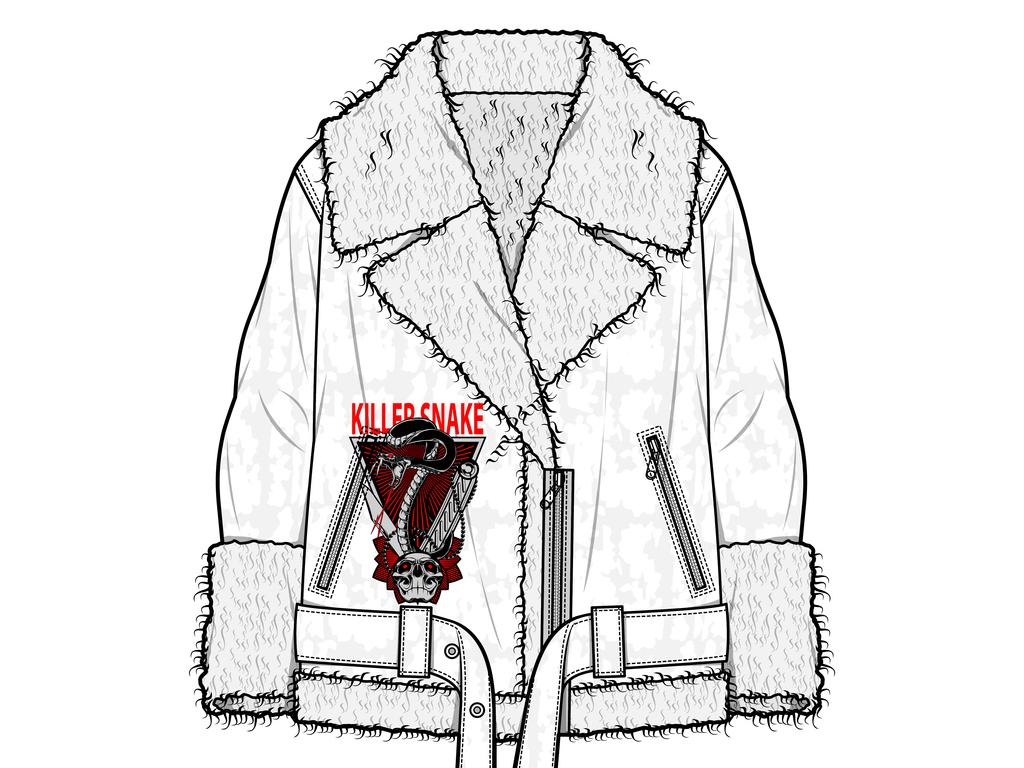 2018秋冬个性大衣免抠服装款式图图片