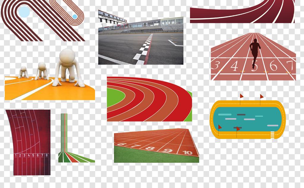 设计作品简介: 卡通手绘跑道赛道png海报素材 位图, rgb格式高清大图