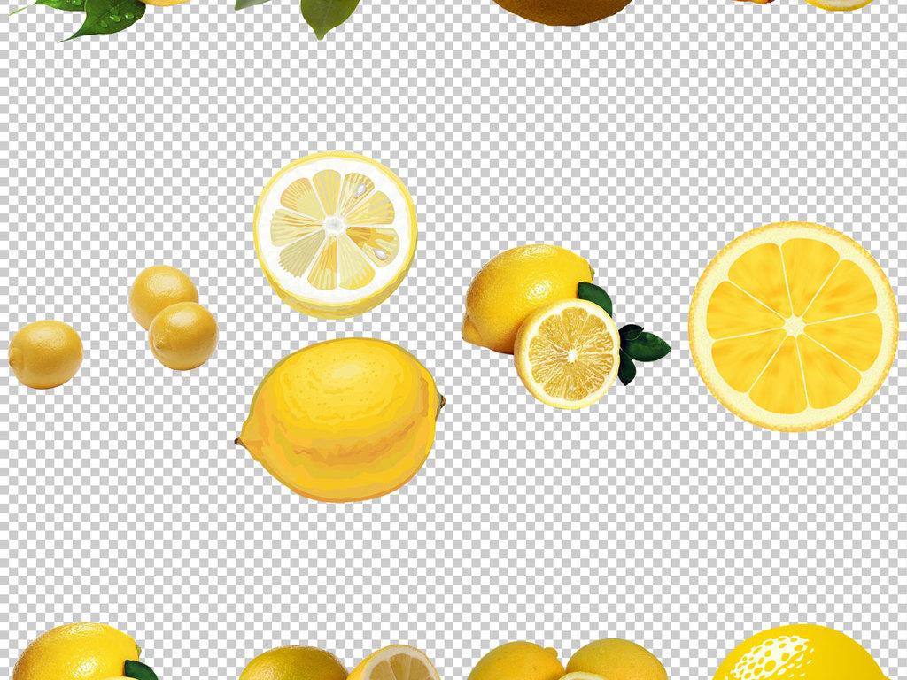 柠檬手绘小清新插画柠檬柠檬果实图片小清新柠檬