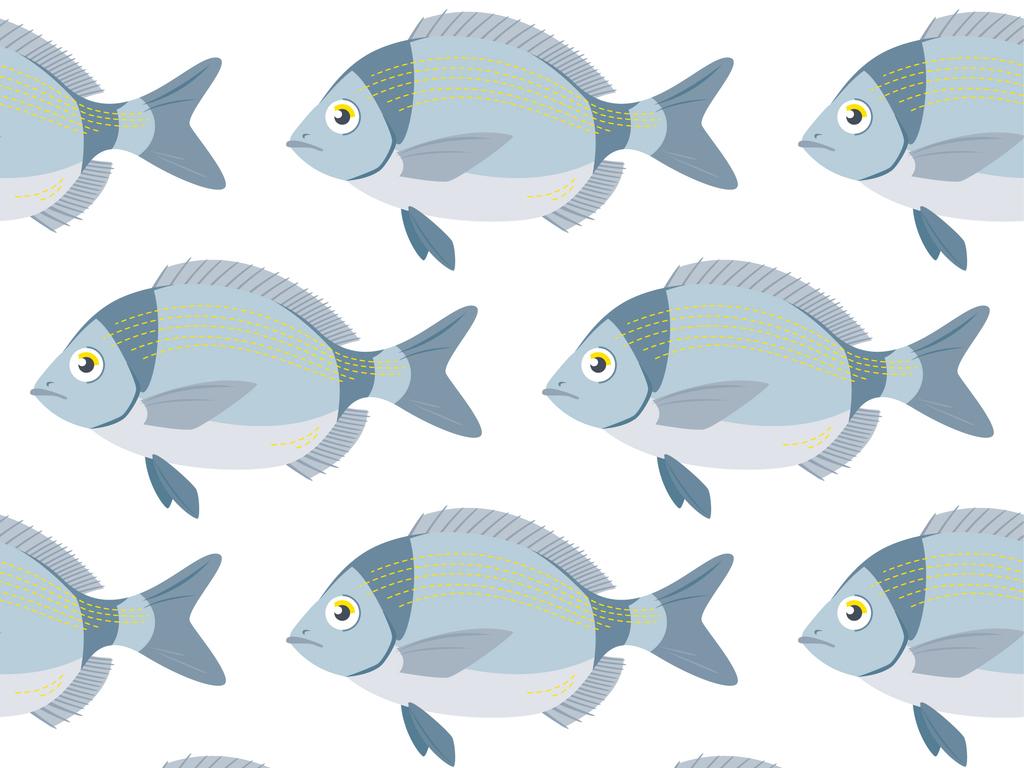 1卡通鱼矢量