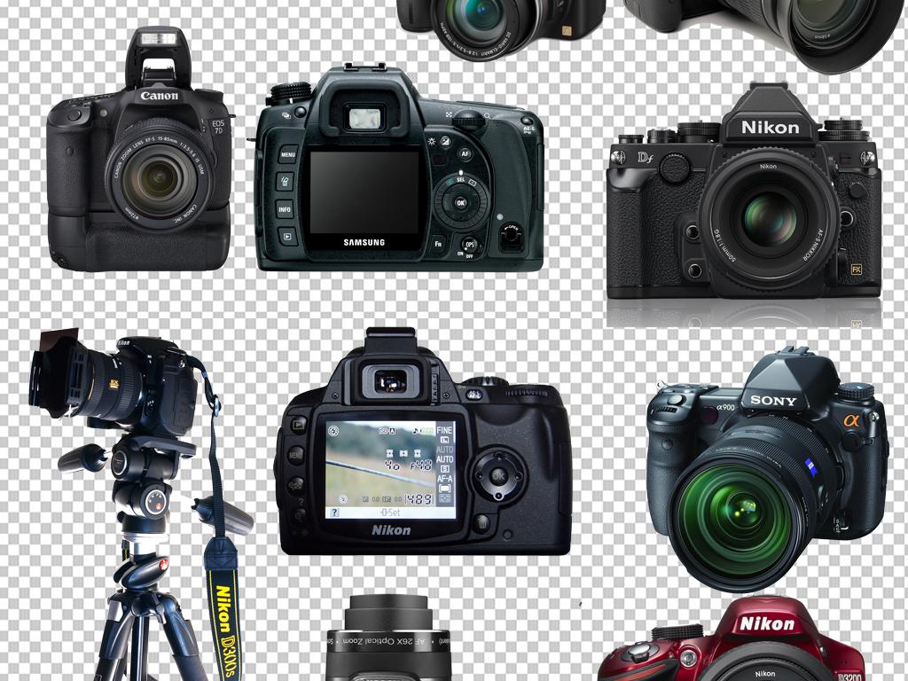 手绘矢量图免抠图素材海报展板高清高清晰数码照相机照相机图标照相机