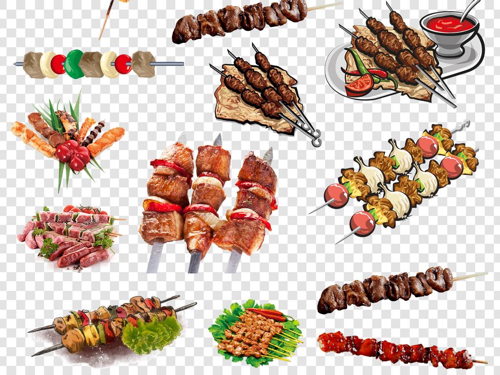 肉串烤串烧烤png海报素材