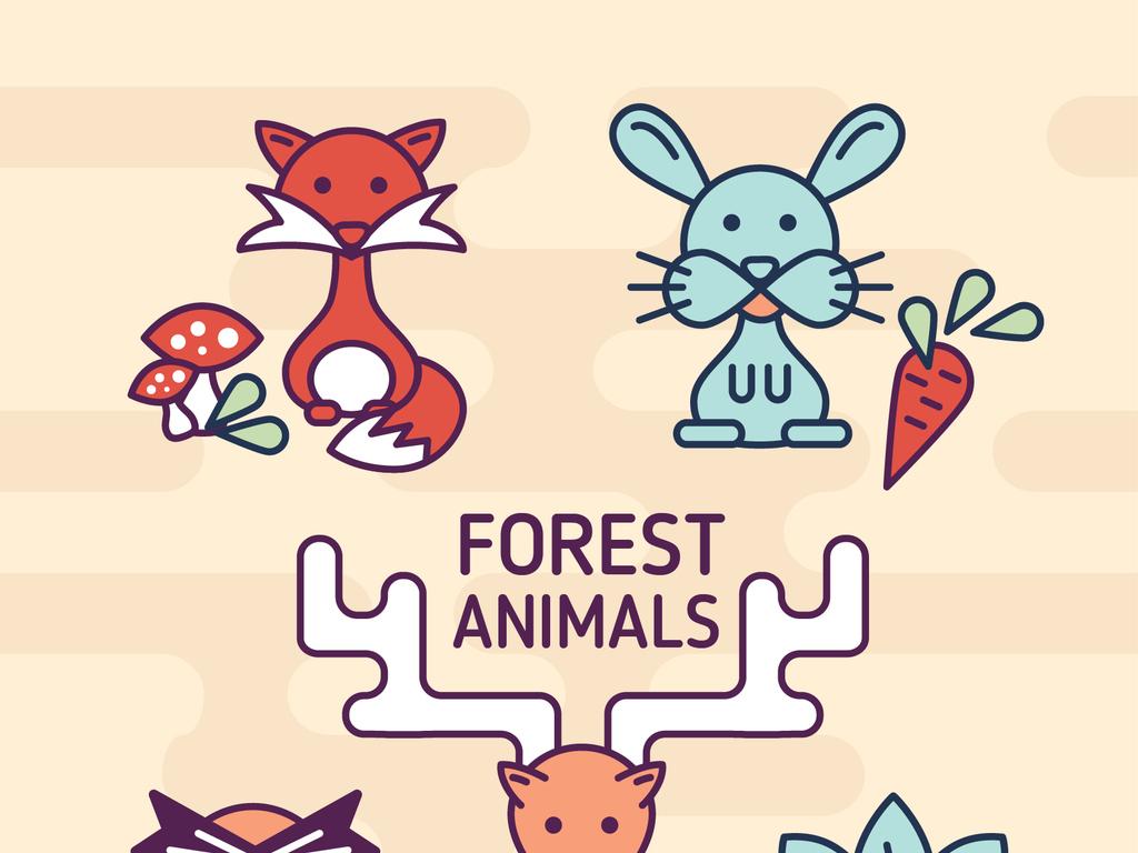 q版动物                                  插画简笔画可爱狐狸卡通