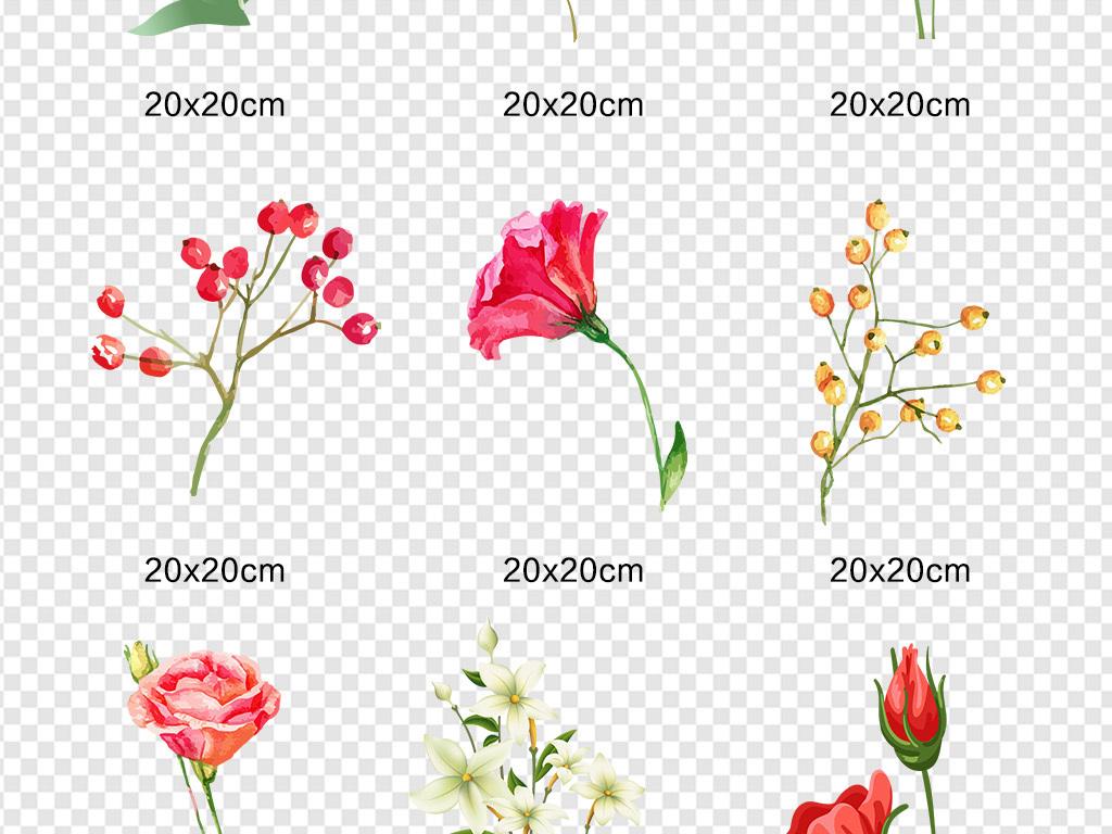psd)透明鲜花                                  鲜花素材