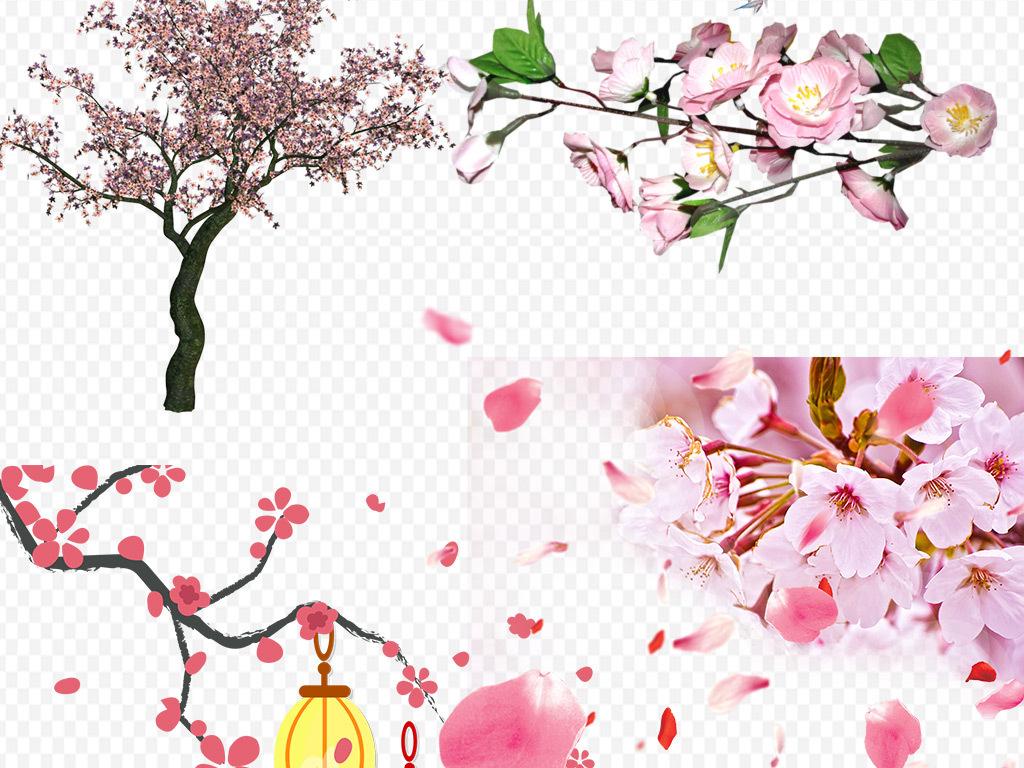 桃花樱花素材小樱花梅花樱花手绘花粉色花花桃花樱花桃花樱花素材樱花