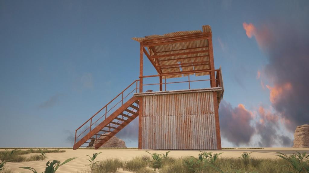 铁皮了望塔哨塔哨岗建筑3d模型