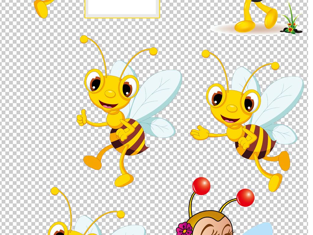 png图剪影手绘矢量图免抠图海报展板高清高清晰素材免抠素材蜜蜂素材