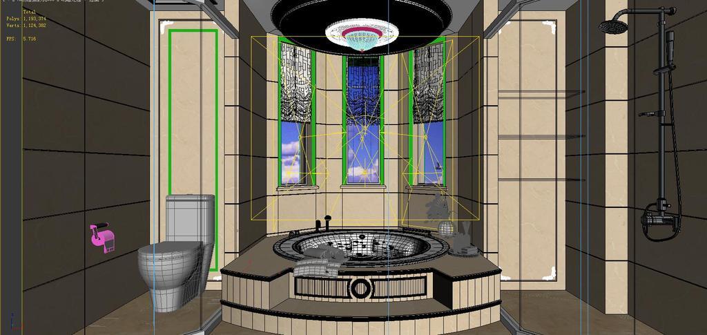 全景360欧式风格卫浴厕所空间03