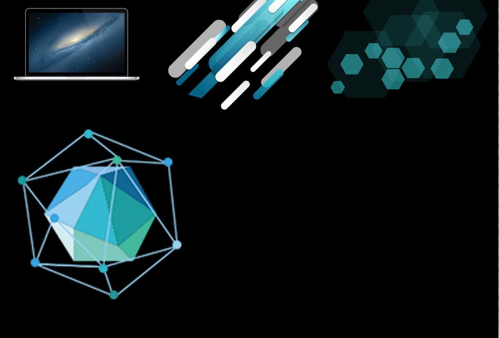电子科技边框蓝色科技背景png素材图片
