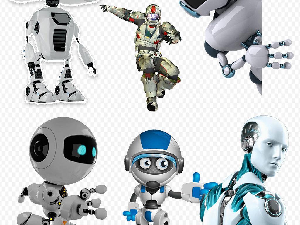 手绘机器人图标乐高机器人素材3d机器人总动员高科技产品钢铁侠素材机