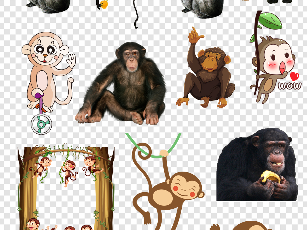动物插画卡通动物生物世界卡通动物漫画卡通手绘q版可爱心形英文动物