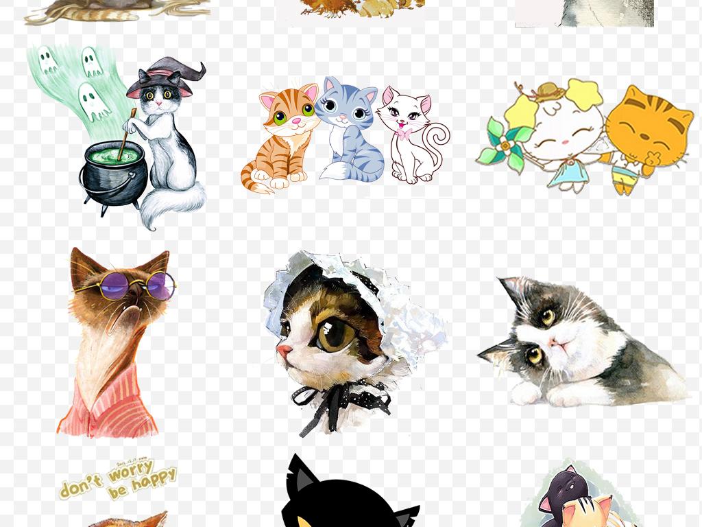 ps海报素材png卡通小动物动物素材小动物萌敲可爱png卡通素材可爱可爱