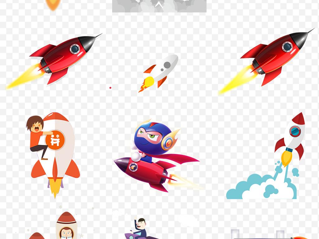 手绘抢购广告设计ps海报素材卡通人物火箭源文件火箭发射发射火箭飞行