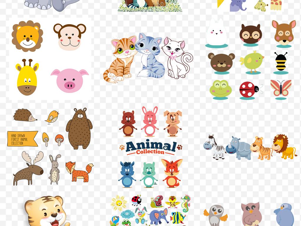 高清唯美手绘水彩森系动物psd设计素材