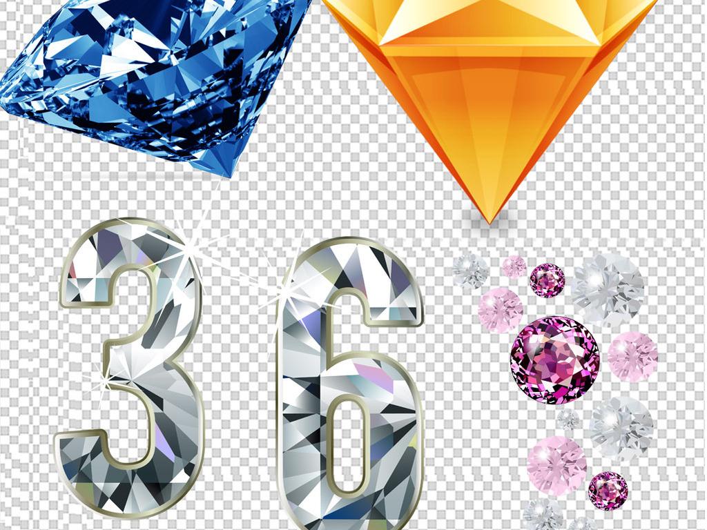 梦幻钻石手绘单质晶体