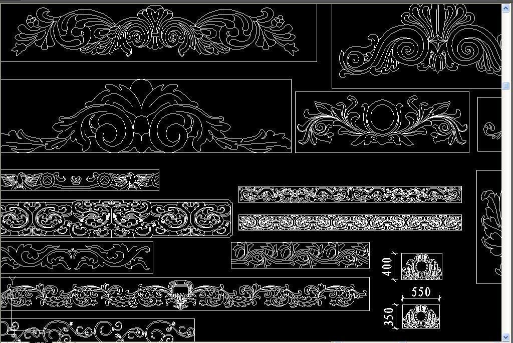 dwg)欧式花纹cad欧式花纹欧式雕刻大理石线条cad线条cad石材欧式线型图片