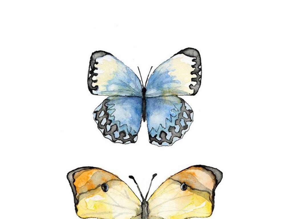 北欧无框画美式客厅装饰画简约美克美家昆虫
