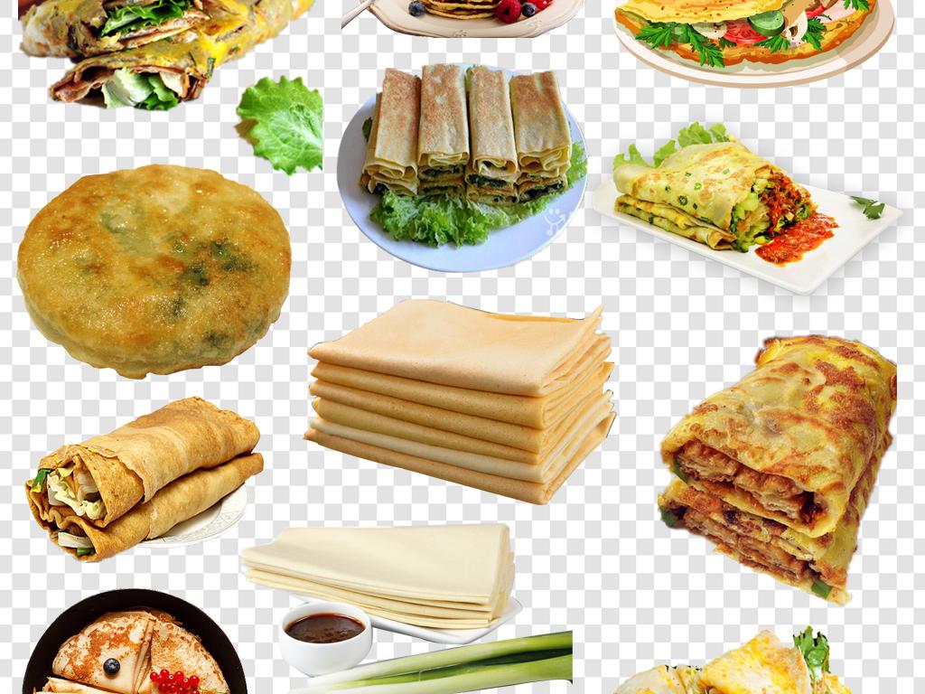 肉夹馍面食餐饮海报素材煎饼卷大葱手绘美食