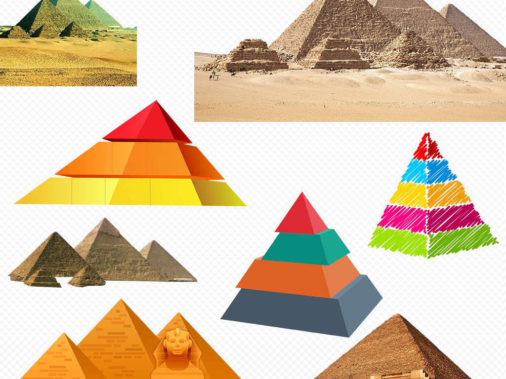 企业文化埃及金字塔卡通沙漠素材下载