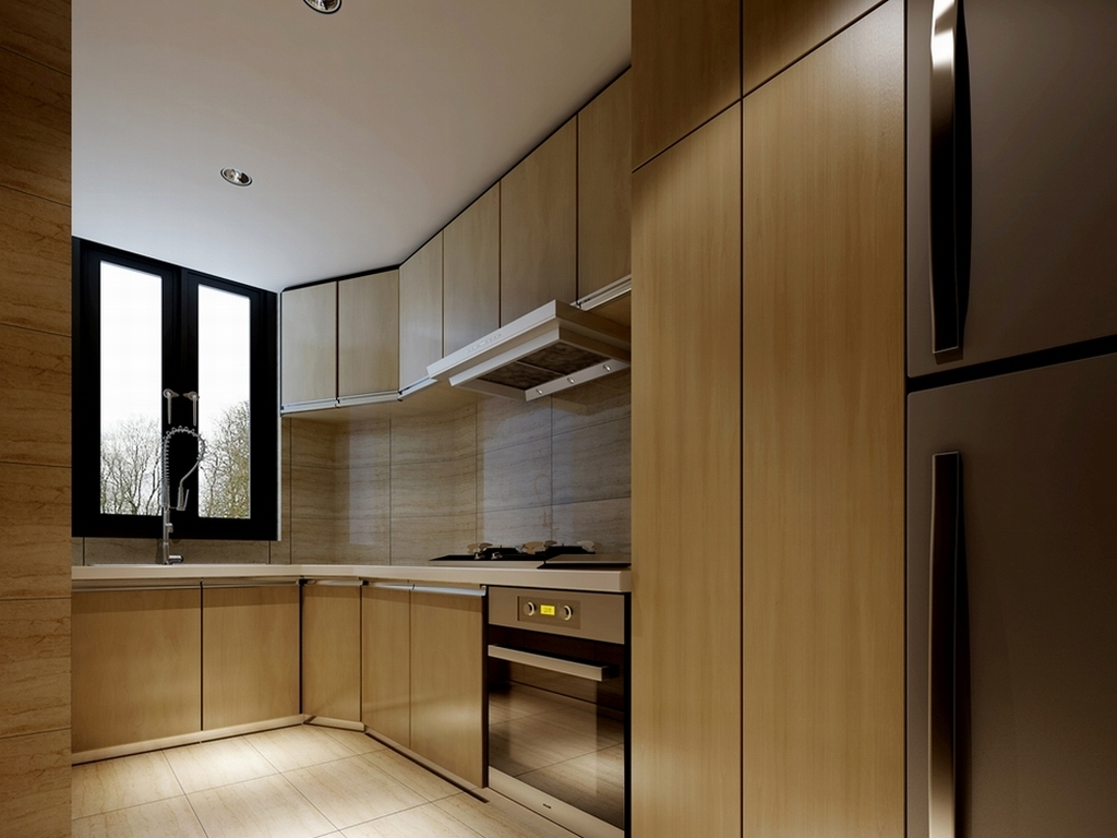 作品模板源文件可以编辑替换,设计作品简介: 餐厅厨房1807,,使用软件